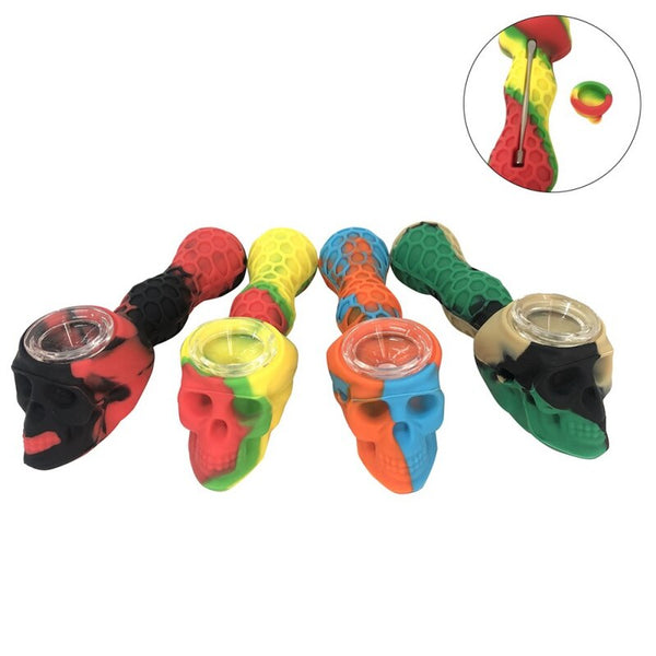 Skull Silicone Smoking Pipes
