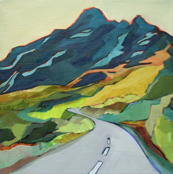 325 Highway Into The Mountains, Acrylic Painting by Carolee Clark