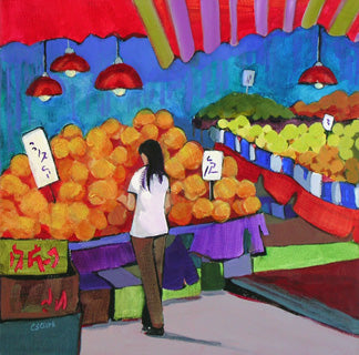 373 Melon Season, Acrylic by Carolee Clark