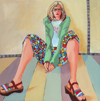 469 Checkered, an acrylic painting by Carolee Clark