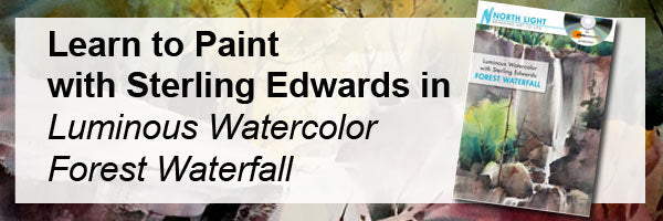 Learn to paint watecolor with Sterling Edwards online art workshop The Wooded Landscape