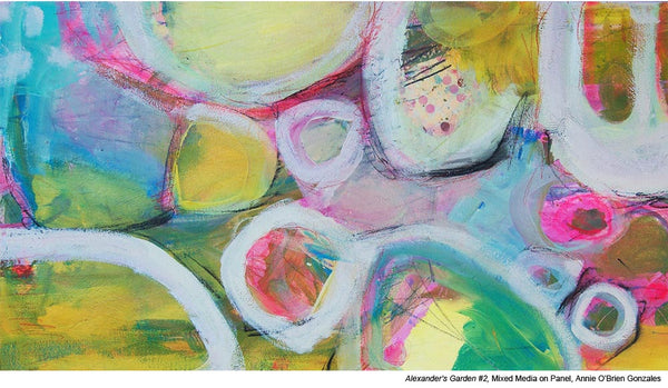 Acrylic Mixed Media Abstracts by painter Annie O'Brien Gonzalez