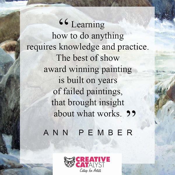 Learn how to paint watercolor with Ann Pember