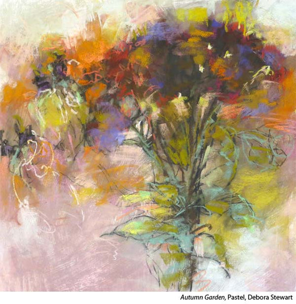 Learn to paint pastel abstracts with artist Debora Stewart
