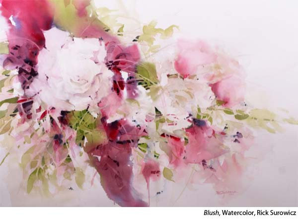 Interview with watercolorist Rick Surowicz, Flowe painting
