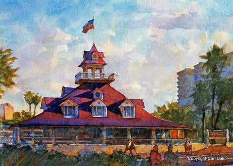 CORONADO BOATHOUSE 1887- by Carl Dalio