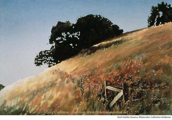 Catherine Anderson Landscape Watercolor Painting Hillside