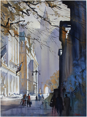 Chambers Street - NYC  30x22 inches  2013 by Thomas Wells Schaller
