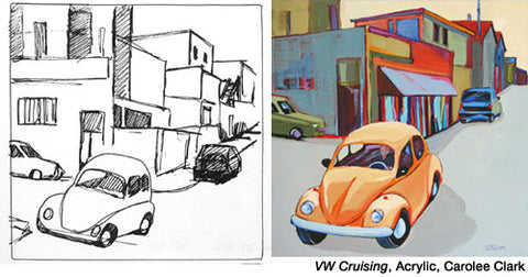 Vokswagon, Crusing by Carolee Clark
