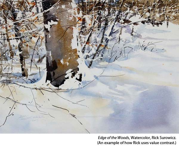 Interview with watercolorist Rick Surowicz, forest landscape