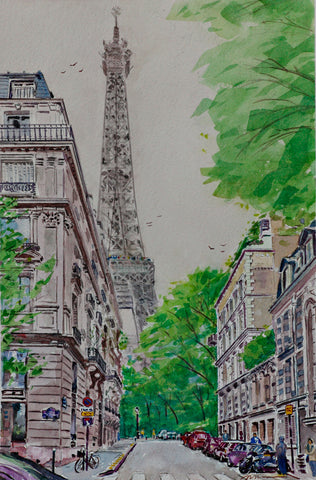 Eiffel-Tower-from-Avenue-de-la-Bourdonnais by Fred Braakman