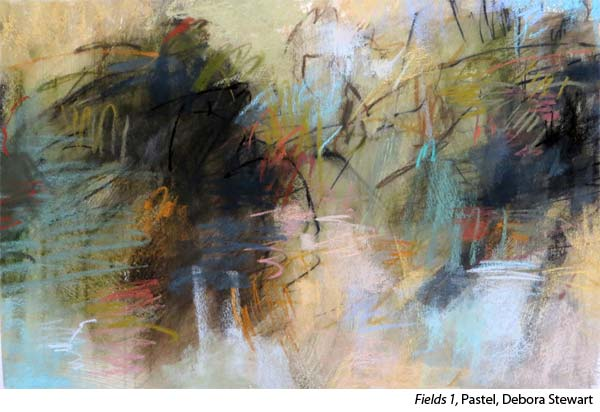 Lear to paint pastel abstracts with artist Debora Stewart
