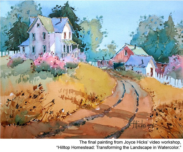 Learn to paint landscapes in watercolor with artist Joyce Hicks