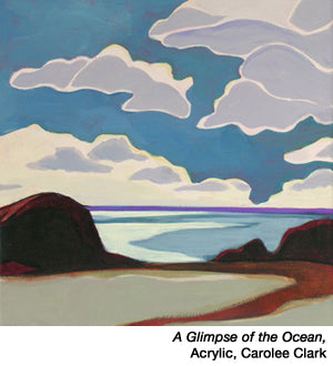Glimpse of the Ocean by Carolee Clark