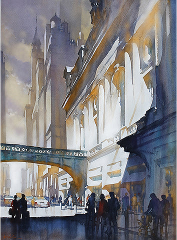 Grand Central Light - 30x22 inches  2014 by Thomas Wells Schaller
