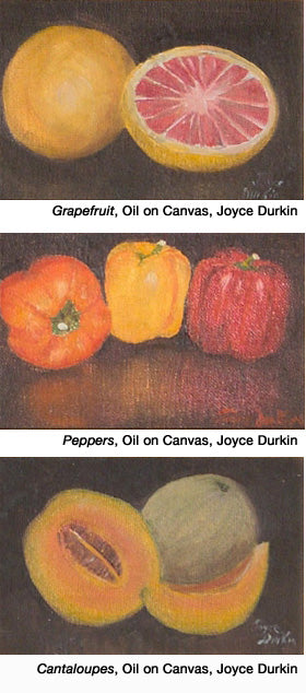 Grapefruit, Peppers, Cantaloupes by Joyce Durkin