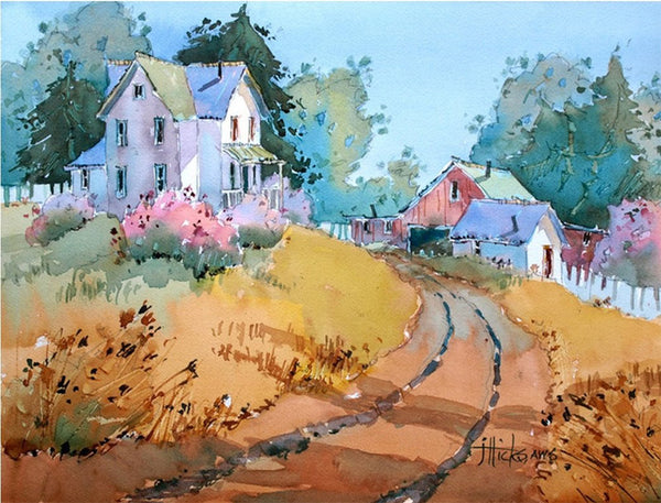Learn to paint watercolor landscapes with Joyce Hicks video workshop