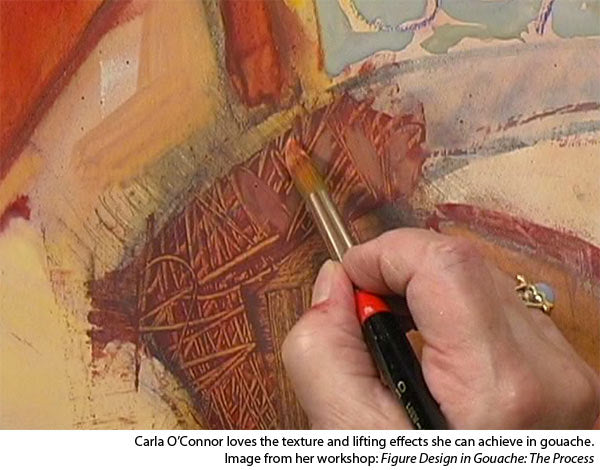 how to paint gouache - understanding texture