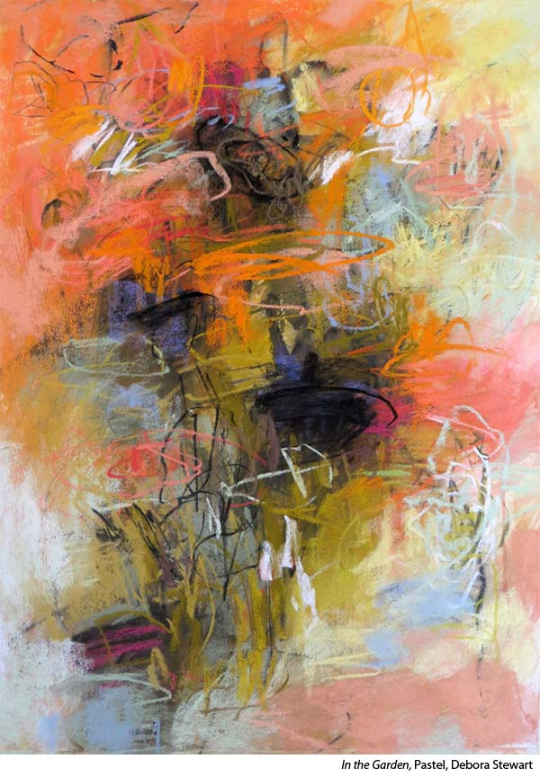 Learn to paint abstracts with artist Debora Stewart's pastel workshops