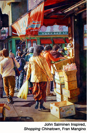 John Salminen Inspired, Shopping Chinatown, by Fran Mangino