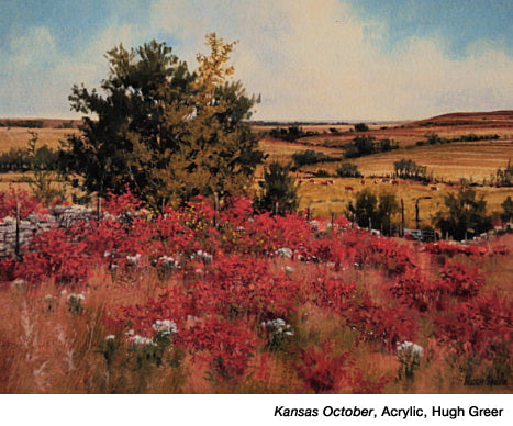 Kansas October,Acrylic by Hugh Greer