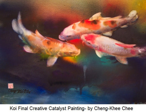 Koi Final Creative Catalyst Painting- by Cheng-Khee Chee
