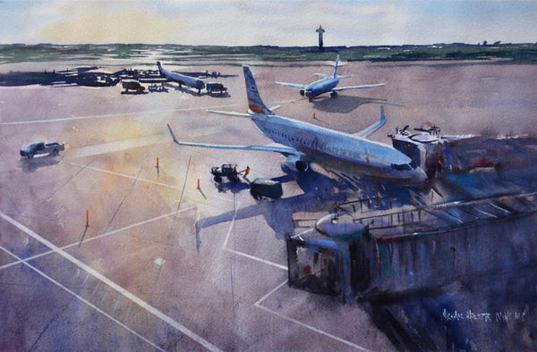 Congratulations to MichaelHolter's painting Leaving on a Jet Plane for taking home a watercolor award