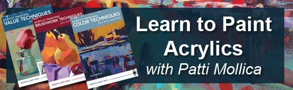 Learn to paint acrylics with artist Pattie Mollica's online workshop
