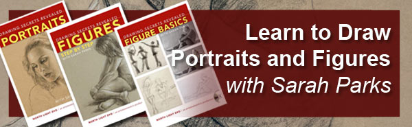 Learn to Draw Portraits and Figures with Sarah Parks online Drawing Workshops
