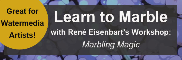 Learn to marble with Rene Eisenbart's Marbling Magic