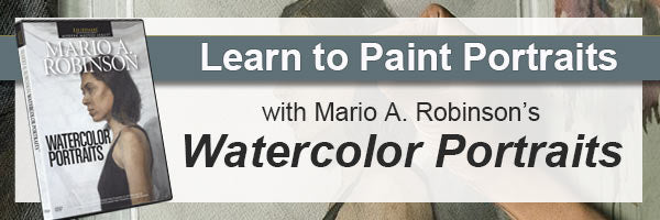 Learn to paint watercolor portraits with Mario A Robinson's video demonstration