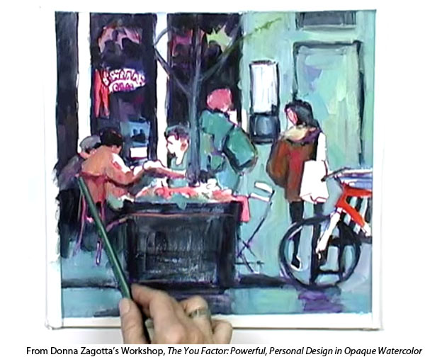 Learn how to paint gouache with Donna Zagotta