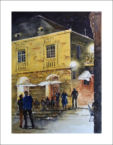 """One Night @ Sarlat"" (size 14"" wide x 19"" high) by Sagnik Biswas"