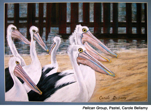 Pelican-group by Carole Bellamy inspired by Dale Laitinen