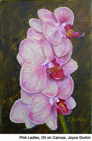 Pink Ladies, Oil by Joyce Durkin