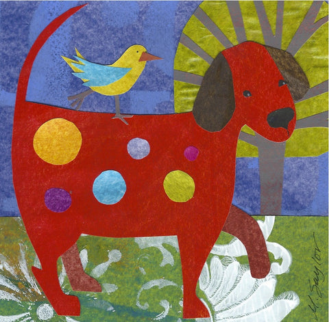 """Red Dog with Garden"" by Melissa Babcock Saylor"