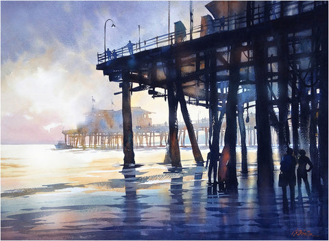 Santa Monica Pier - 22x30 inches - 2014 by Thomas Wells Schaller