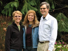 Patricia Baldwon Seggebruch with Lynn and Jim Powers at Creative Catalyst Productions