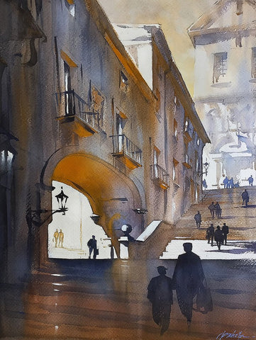 Steps of Girona - Spain  24x18 inches  2015 by Thomas Wells Schaller