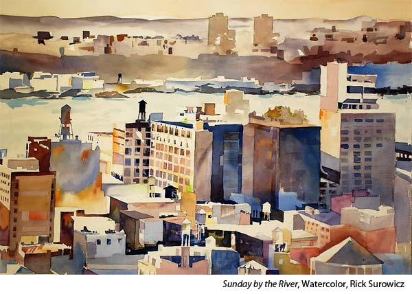 Interview with watercolorist Rick Surowicz, urban landscape
