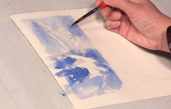 Learn how to create beautiful edges in watercolor with Shuang Li's online video workshop