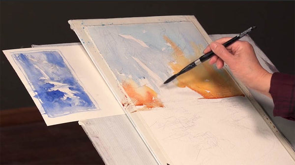 Learn how to paint water in watercolor with Shuang Li