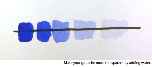 how to paint gouache - how to make your gouache more transparent
