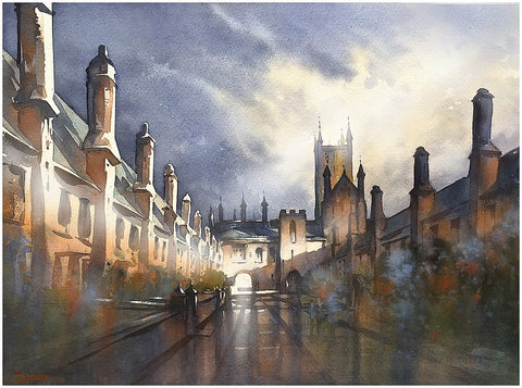 Vicars Close - Wells, GB  18x24 inches  2015 by Thomas Wells Schaller