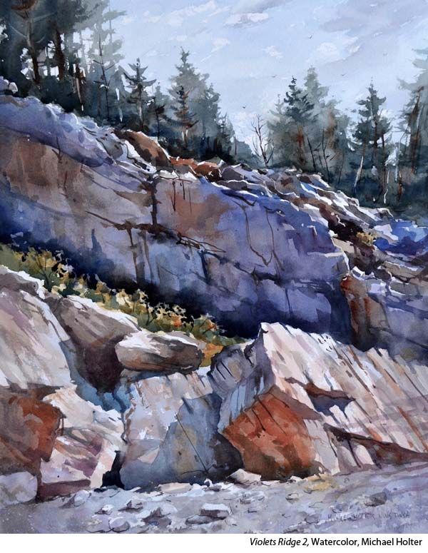 Watercolor landscape with Michael Holter