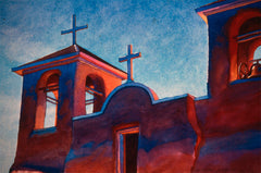 WC #12 Bell Towers - Ranchos De Taos Church by Carl Dalio
