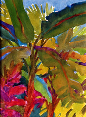 Watercolor, Banana Trees Acapulco by Carl Dalio
