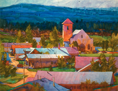 Watercolor, Tierra Amarilla - New Mexico by Carl Dalio