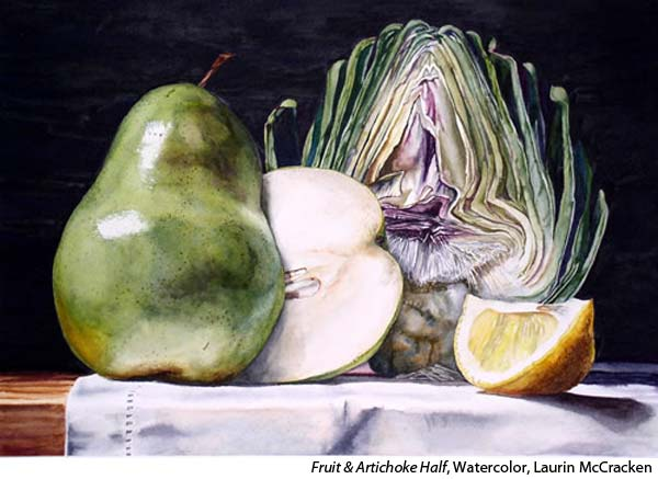 Photo Realistic Fruit Stilllife in Watercolor with Laurin McCracken