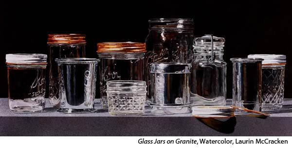 Photo Realistic Glass Stilllife in Watercolor with Laurin McCracken